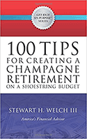 Cover of '100 Tips for Creating a Champagne Retirement on a Shoestring Budget'